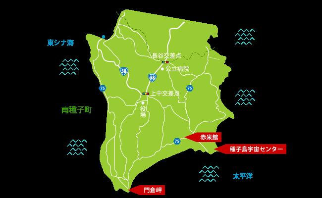 種子島南種子町観光マップ